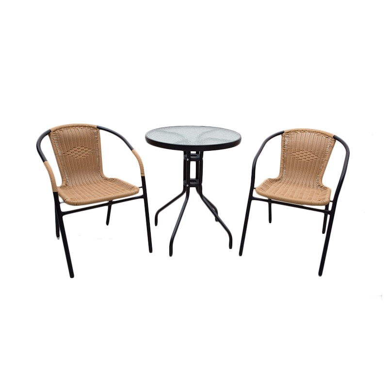 Atria De Grass Wicker Table & Chair