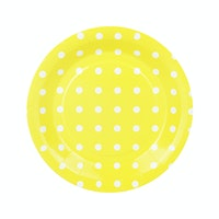 Bakers Polkadot Paper Plate - Yellow
