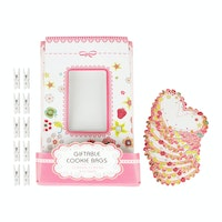 Bakers Baby girl cookies bag with accessories Isi 12 sets