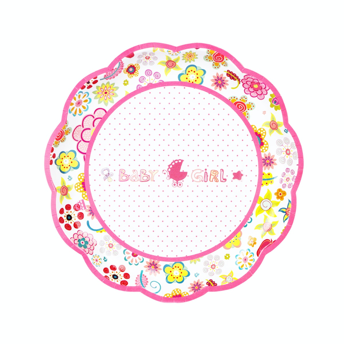 Bakers Baby Girl Plate