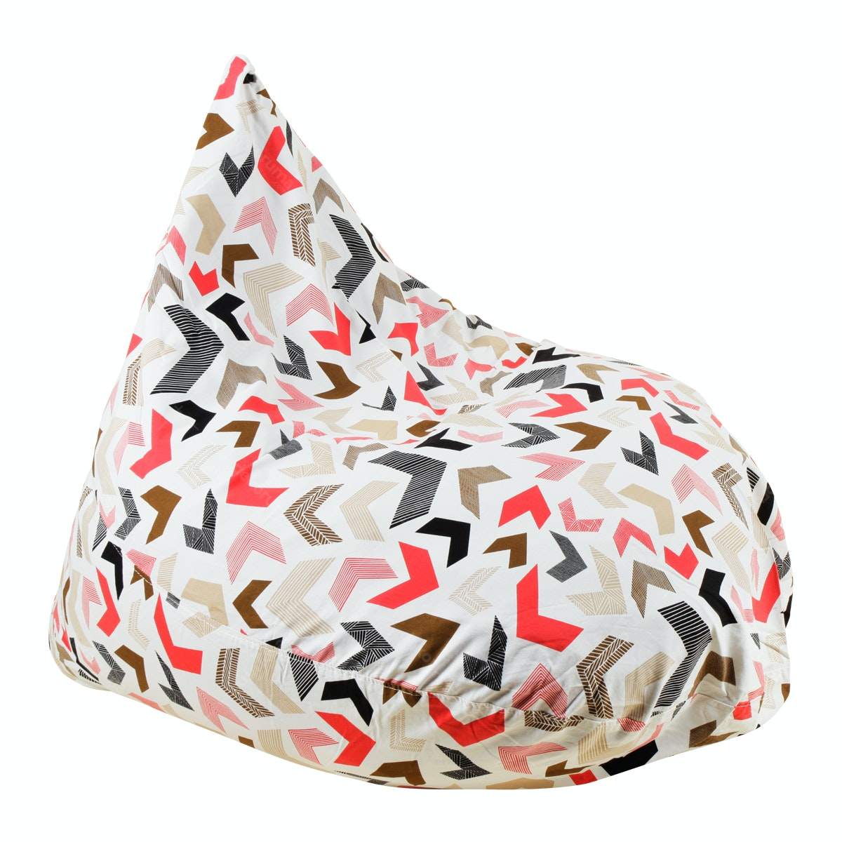 Beam and Co Teardrop Beanbag Chevron Toast