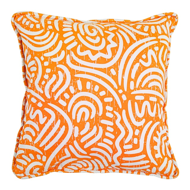 Beam and Co Cushion Cover 40x40cm Case Sina Orange