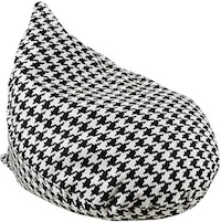 Beam and Co Teardrop Beanbag Domino Black