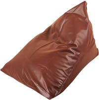 Beam and Co Pizza Beanbag PVC Synthetic Leather-Burgundy