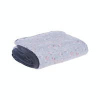 Beam and Co Blanket Grey Flower-02