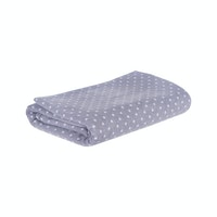 Beam and Co Blanket Grey Polkadot