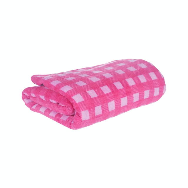 Beam and Co Blanket Pink Square