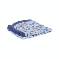Beam and Co Kids Blanket Blue Car