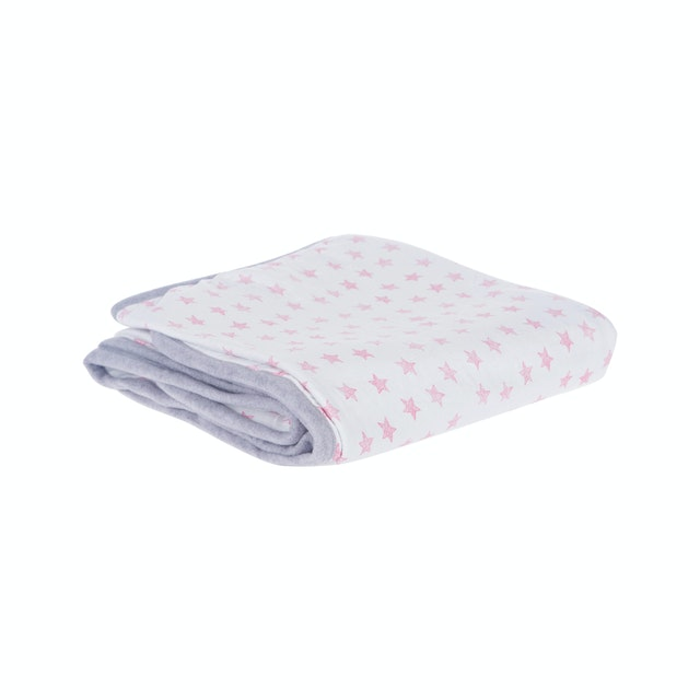 Beam and Co Kids Blanket White Star
