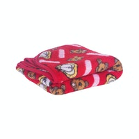 Beam and Co Kids Blanket Red Garfield