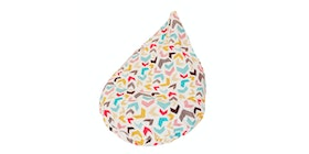 Beam and Co Teardrop Beanbag Chevron Party