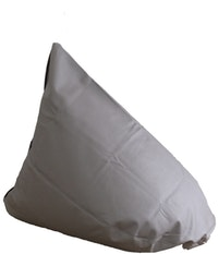 Beam and Co Beanbag Teardrop Syntehtic Leather Grey