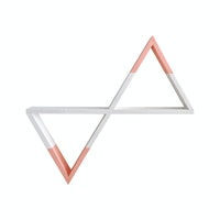 Biakidz Rak Geometris Double Peach - Geometric Shelf