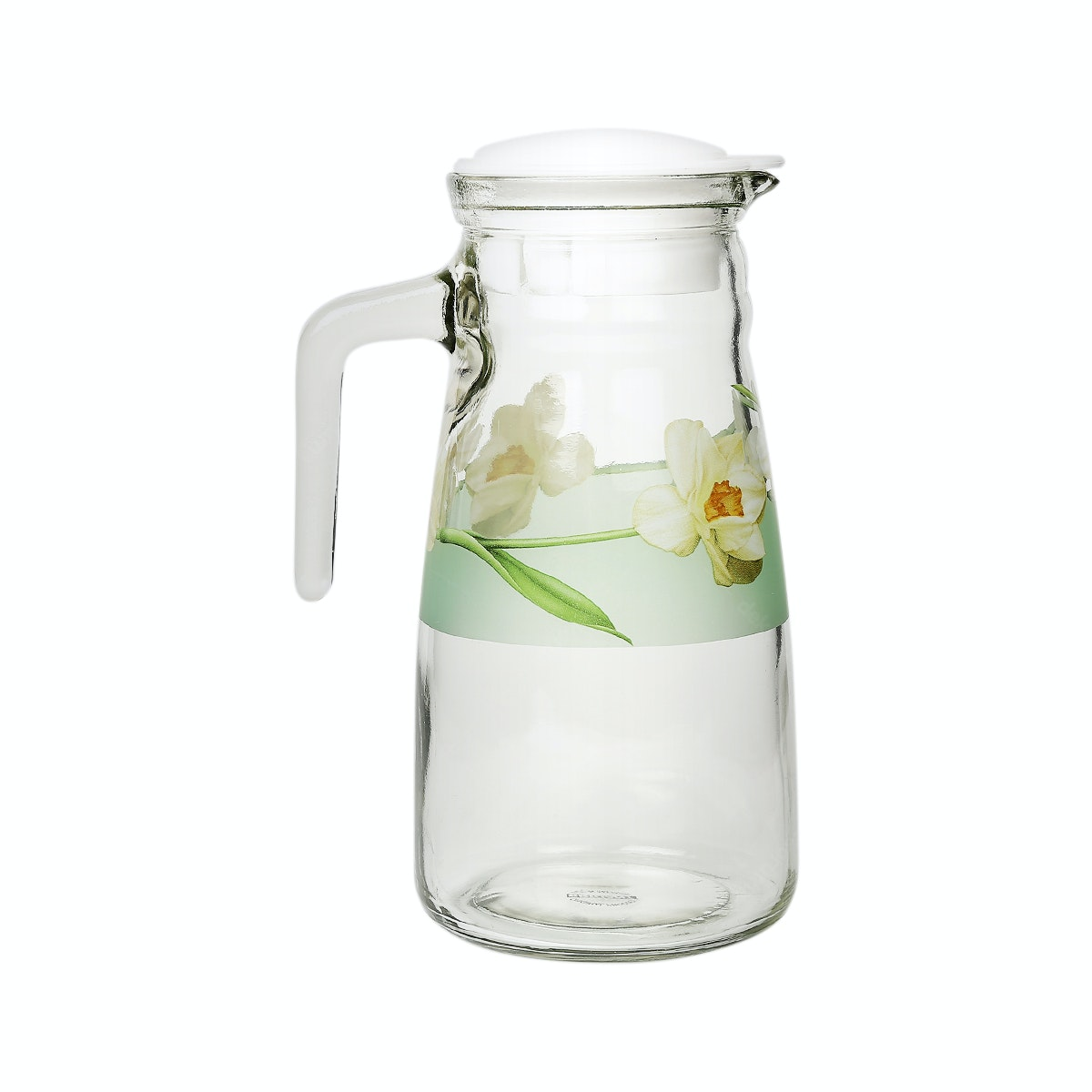 Brilliant Analise 1pc 1L Pitcher with Lid - Green Flower