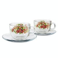 Briliant Cup & Saucer Andretty Red