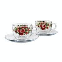 Briliant Cup & Saucer Summer Time Red
