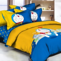 Pantone Doraemon Lovely Bed Cover set Full Fitted 120 x 200 x 30