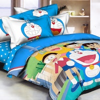 Pantone Doraemon Fun Bed Cover set single Fitted 100 x 200 x 30