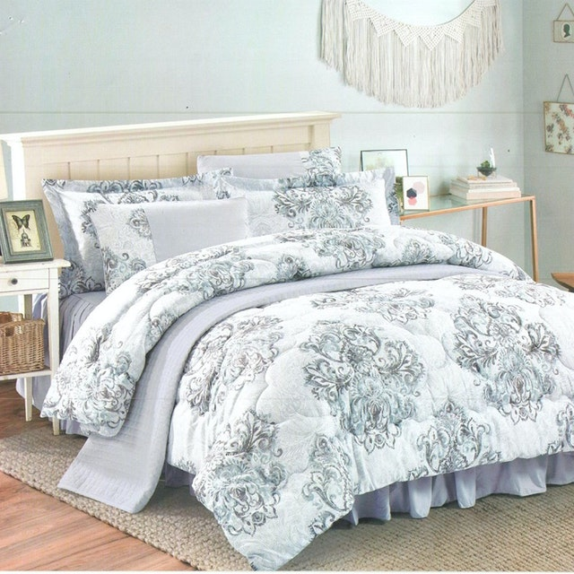 Pantone Rafinha Microtex Bed Cover Set Queen 160x200x40cm