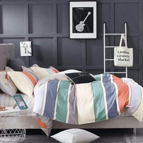 Juliahie Harvard Cotton Sprei Super King Fitted 200x200x40cm