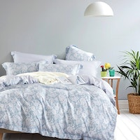Juliahie Lea Bed Cover Set Sprei Queen Fitted 160x200x40cm (Free 2 Pcs Long Pillow)