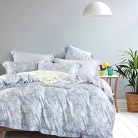 Juliahie Lea Bed Cover Set Sprei Super King Fitted 200x200x40cm (Free 2 Pcs Long Pillow)