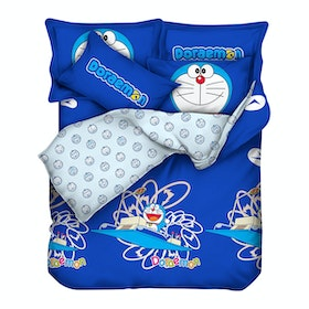 Bloomingdale Doraemon Time Machine Bed Cover set King Fitted