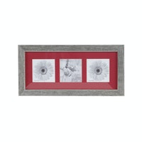 Jbrothers Collage Frame with matboard 3 square Red CF 10