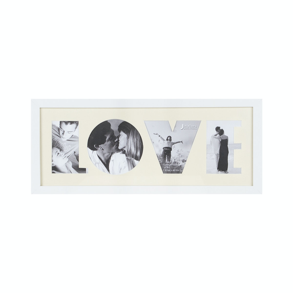 """Jbrothers Collage Frame """"Love"""" 4 Foto White CF 28"""