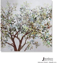 Jbrothers Poster Canvas Frameless Bunga WD 30x30 cm