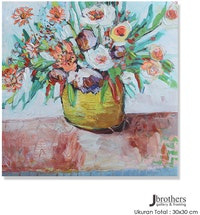 Jbrothers Print Canvas Bunga WD42