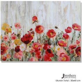 Jbrothers Poster Canvas Frameless Bunga WD 07 30x40 cm