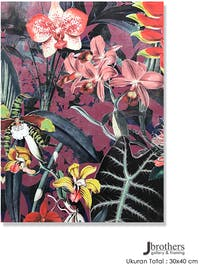 Jbrothers Poster Canvas Frameless Bunga WD 19 30x40 cm