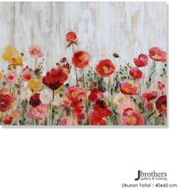 Jbrothers Poster Canvas Frameless Bunga WD 08 40x60 cm