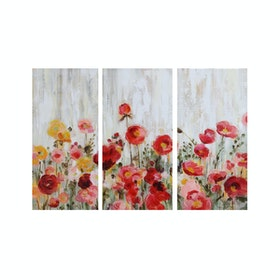 Jbrothers Print Canvas Set Bunga WD13