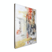Jbrothers Poster Canvas Painting Abstrack  60x90 cm Premium Frame Block PF 03