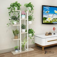 Jbrothers WHITE TOWER PLANT STAND 11 POT