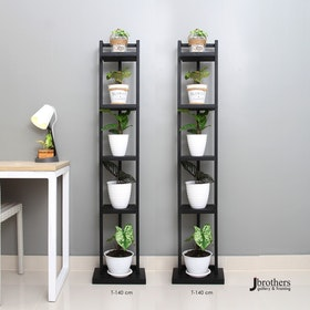 Jbrothers BLACK TOWER PLANT STAND 5 POT
