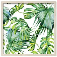 Jbrothers Wall decor JB 19 40x40 cm Daun Monstera Frame Kayu