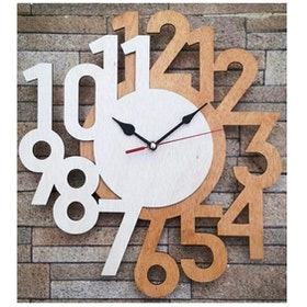 BiruTua Wooden Wall Clock