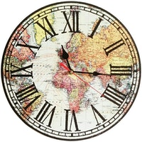 BiruTua World Map - Wall Clock