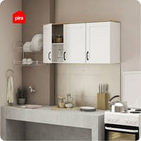 Bavarian Bavarian Rak Gantung Dapur 3 Pintu White - Yellow Oak (ASHLEY KWU 3)