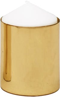 Carra Metallic Gold Candle Holder