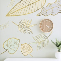 Codeco Wall sticker Tropical Pastel with Gold