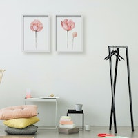 Codeco Poster Set Water Color Pink Peonies
