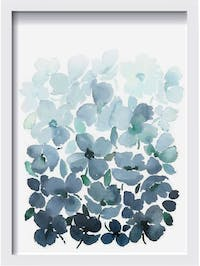 Codeco Poster Floral Blue Water Color