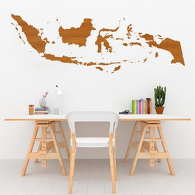 Codeco Wall Sticker Wooden indo Map