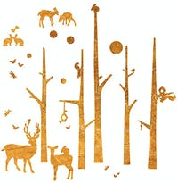 Codeco Wall Sticker Wooden Scandi Forest