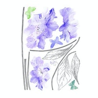 Codeco Wall Sticker Blue Floral With Handle