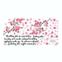 Codeco Wall sticker Cherry Blossom with Quote